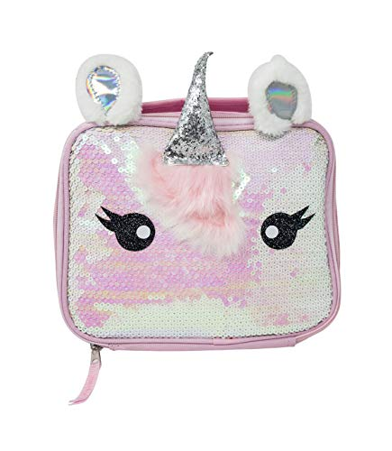 (Unicorn Pearl Iridescent Sequin Rectangle Lunch Bag)