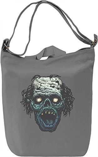 Screaming zombie head Borsa Giornaliera Canvas Canvas Day Bag| 100% Premium Cotton Canvas| DTG Printing|
