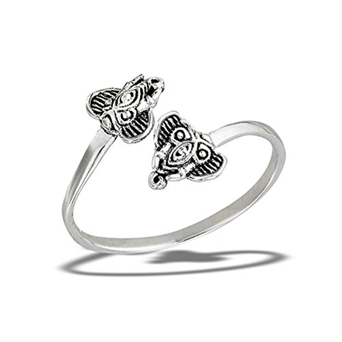 Sterling Silver Women's Circus Elephant Ring (Sizes 4-13) (Ring Size 7)