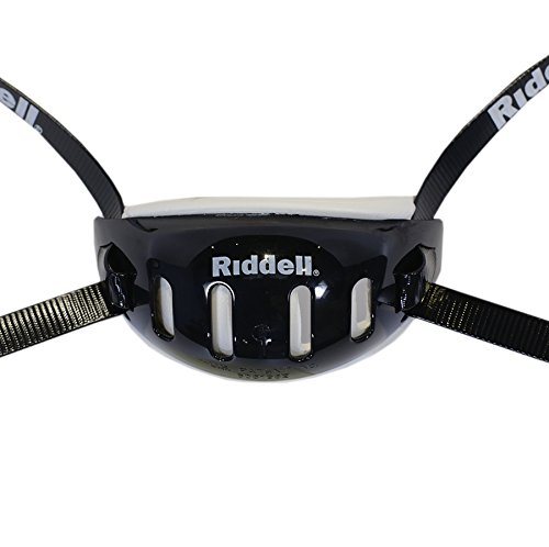 Riddell Black Medium Hard Cup Chinstrap - Riddell Football Equipment