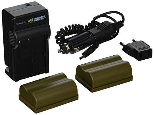 Wasabi Power Battery (2-Pack) and Charger for Canon BP-511, BP-511A and Canon EOS 5D, 10D, 20D, 20Da, 30D, 40D, 50D, 300D, D30, D60, Rebel, PowerShot G1, G2, G3, G5, G6, Pro 1, Pro 90, Pro 90 IS, FV10, FV100, FV2, FV20, FV200, FV30, FV300, FV40, FV400, FV50, FVM1, FVM10, Optura 10, Optura 100MC, Optura 20, Optura 200MC, Optura 50MC, Optura Pi, Optura Xi, PV130, ZR10, ZR20, ZR25, ZR25MC, ZR30, ZR30MC, ZR40, ZR45MC, ZR50MC, ZR60, ZR65MC, ZR70MC, ZR80, ZR85, ZR90