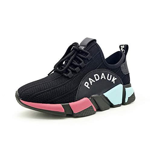 de Mujer Caminar Ciclismo Verano Creepers Toe ZHZNVX Zapatos de para Comfort sintético Malla Sneakers y Black Zapatos de Black Primavera Round Transpirable Zapatos de UZwtwE