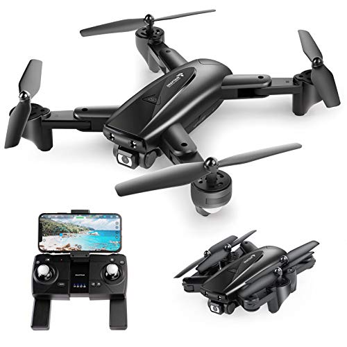 SNAPTAIN SP500 Foldable GPS FPV Drone with 1080P HD Camera Live Video for Beginners, RC Quadcopter with GPS Return Home, Follow Me, Gesture Control, Circle Fly, Auto Hover and 5G WiFi Transmiss