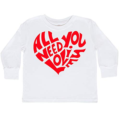 Valentines Shirts For Toddlers (inktastic All You Need is Love Red Heart Toddler Long Sleeve T-Shirt 3T)