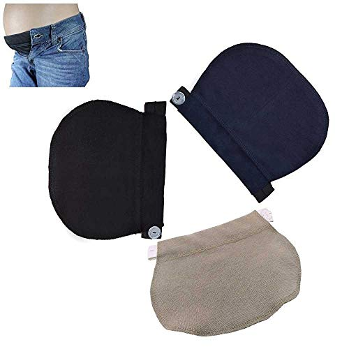 Aolvo Waistband Extenders Adjustable Elastic Waist Maternity Belly Band for Pregnant Women, Obese People,Beer Belly Man and So on