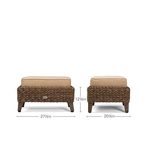 Blue Oak Outdoor Bahamas Patio Furniture Ottoman With