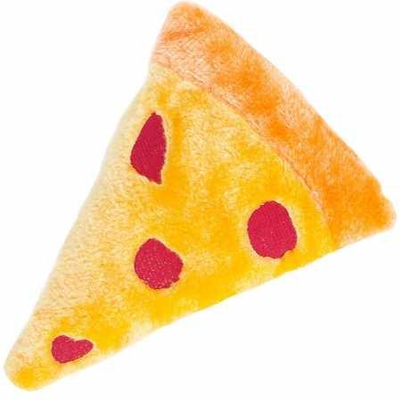 ZippyPaws - Squeakie Emojiz Stuffed Plushie Dog Toy - Pizza Slice ()