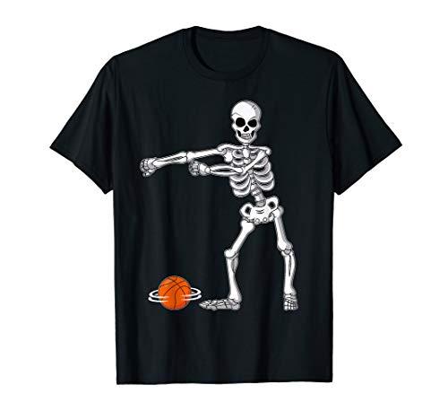 Flossing Skeleton Basketball Funny Halloween TShirt Dance