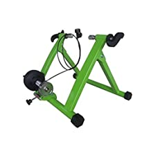 Green Magnet Steel Bike Bicycle Indoor Exercise Trainer Stand