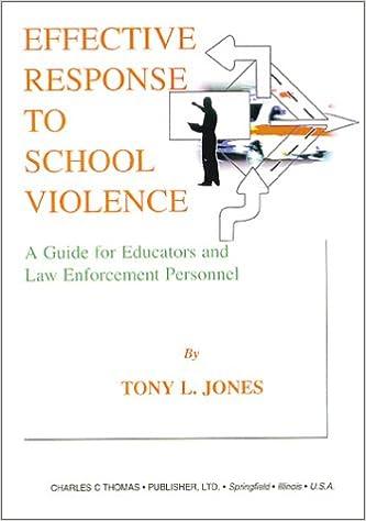 effective response to school violence jones tony