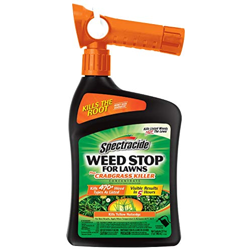 Spectracide Weed Stop For Lawns Plus Crabgrass Killer Concentrate, Ready-to-Spray, 32-Ounce, 6-Pack (Best Way To Weed And Feed Lawn)