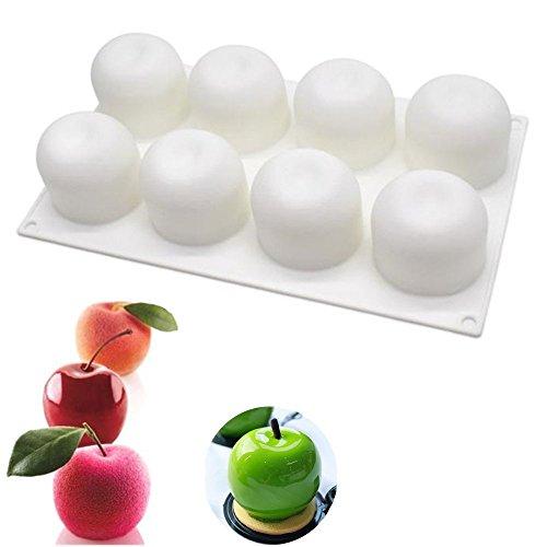 Apple Shaped For Halloween Christmas Cake Truffle Jelly Desserts ,DIY Baking Tools,8-Cavity , Set of 1 ()