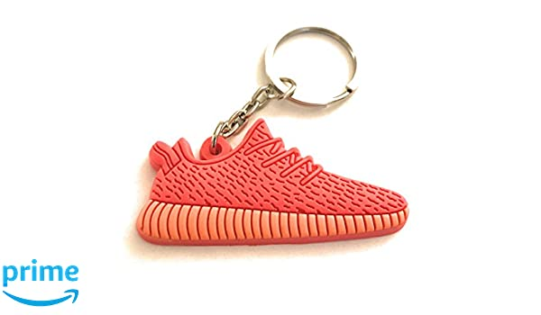 fb186f4205f Amazon.com  Red Low Top Yeezy Boost Red Shoe Keychain Collectable 2-D   Clothing