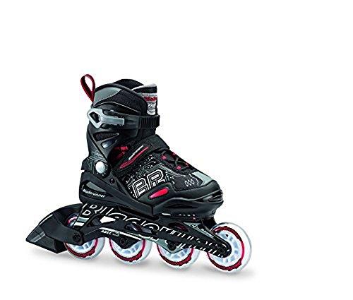 Rink Hockey Junior (Bladerunner by Rollerblade Phoenix Boys Adjustable Fitness Inline Skate, Black and Red, Junior, Value Performance Inline Skates)