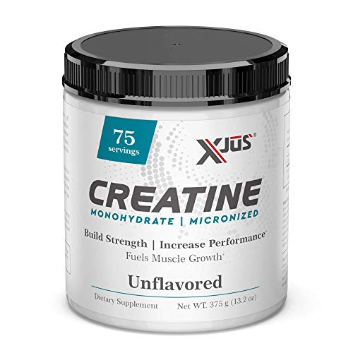 Xjus Creatine Monohydrate, Micronized for Fast Absorption, Increase Muscle Gains from Workouts, Vegan Friendly, No Filler Ingredients, 75 Servings