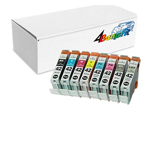 4Benefit CLI-42 8 Colors Set Compatible Premium Ink Cartridge for CLI-42 Pixma Pro-100 (1 Black, 1 Cyan, 1 Gray, 1 Light Gray, 1 Magenta, 1 Yellow, 1 Photo Cyan, 1 Photo Magenta)