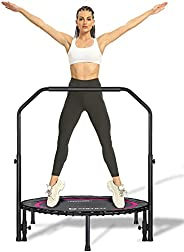 Darchen 200KG Mini Trampoline for Adults, Indoor Small Rebounder Exercise Trampoline for Workout Fitness,200KG