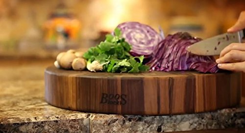 John Boos Walnut Wood Round Butcher Block Cutting Board