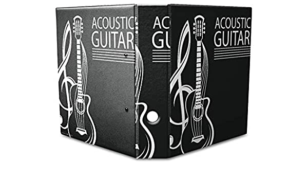 Leotie GmbH Archivador A4 Carpeta 2 anillas 60mm impreso Guitarra acústica: Amazon.es: Hogar