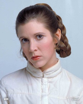Star Wars Authentics Carrie Fisher as Princess Leia Organa in 'Star Wars: The Empire Strikes Back' 11x14 Official Photo