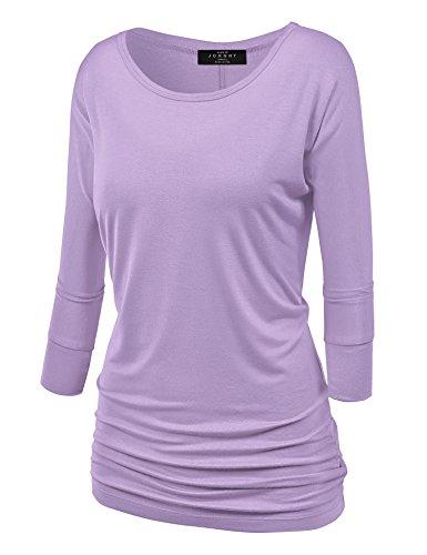 - MBJ WT822 Womens 3/4 Sleeve with Drape Top XXL Lilac