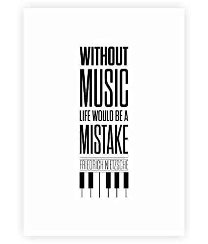 Amazon Without Music Life Would Be A Mistake Friedrich Mesmerizing Life Quotes Posters