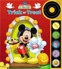 - Halloween Trick or Treat Disney Mickey Mouse Clubhouse Play A Sound Book & Buttons Doorbell NEW
