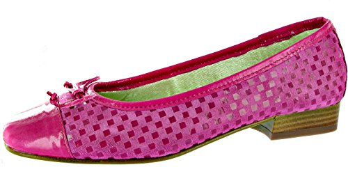 ballerine Chaussure brevets Riva Suede Andros féminines et Fuchsia confortable EBwWq4xRpP