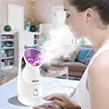 Facial Steamer - KINGDOMCARES Nano Ionic Hot Mist Facial Steamer Warm Mist Moisturizing Face Steamer Unclogs Pores Clearing Blackheads Acne Removal Home Sauna SPA Facial Atomizer Facial Hydration Nano Sprayer Purple