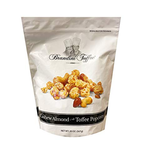Best Prices! Brandini Toffee Cashew Almond & Toffee Popcorn Family Size Pack 20oz, 1 Pack