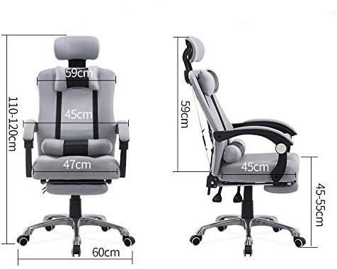 YAzNdom Bureau confort siège de bureau dancrage rotation personnel paresseux montage simple chaise pivotante chaise de loisirs entreprise YAzNdom (Color : Gray) Bleu