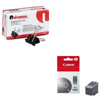 KITCNMPG40UNV10200 - Value Kit - Canon PG40 PG-40 Ink Tank (CNMPG40) and Universal Small Binder Clips ()