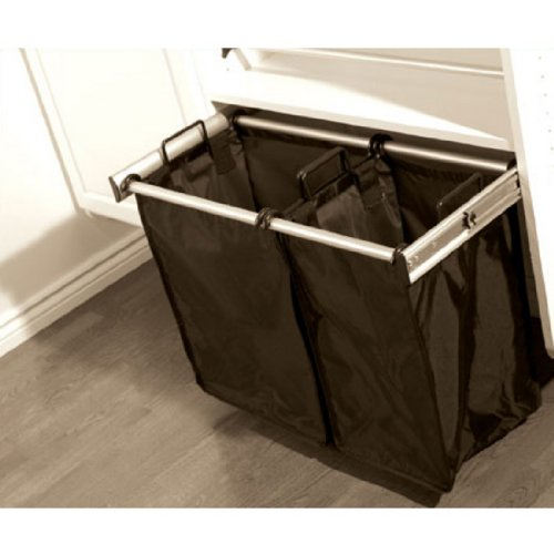 24 Inch Sliding Double Laundry Hamper 24 Inch Oil Rubbed Bronze by Hafele Hardware