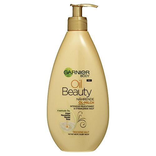 Garnier Body Oil Beauty Nährende Öl Milch für trockene Haut, 400ml