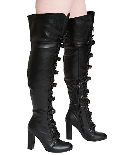 Pu Boots Pu Black Shelikes Shelikes Women's Black Women's fwFzxXqf0