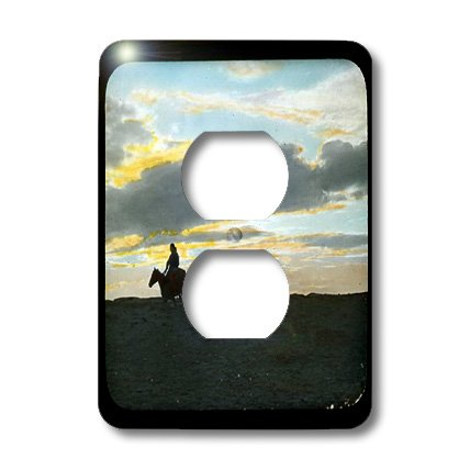 3dRose LLC lsp_16131_6 Indian Rider in Sunset Horizon in The American Southwest, 2 Plug Outlet Cover by 3dRose