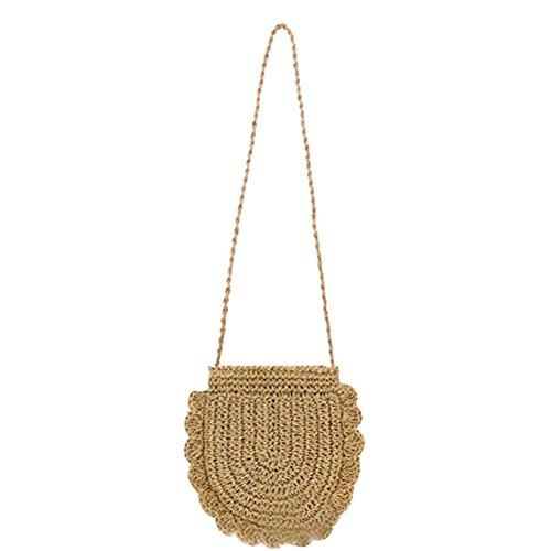 Donalworld Women Beach Bag Round Straw Crochet Shoulder Summer Bag Purse S Shlcf by Donalworld (Image #10)