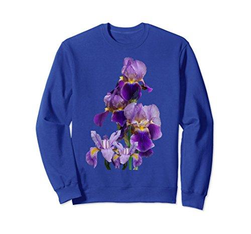 Unisex Irises Flower Plant Gardening Gardener Lover Gift Tennessee 2XL Royal (50 Poly Cotton Iris)