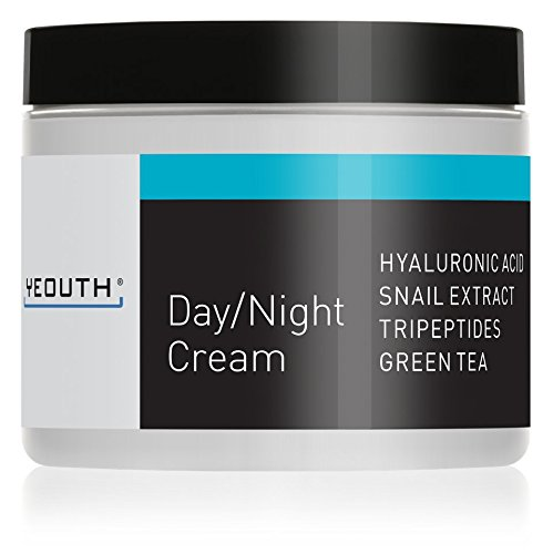 YEOUTH Day Night Moisturizer for Face with Snail Extract, Hyaluronic Acid, Green Tea, and Peptides, Anti Aging Day Cream or Night Cream Moisturizer for Dry Skin, 4 oz - GUARANTEED by Yeouth