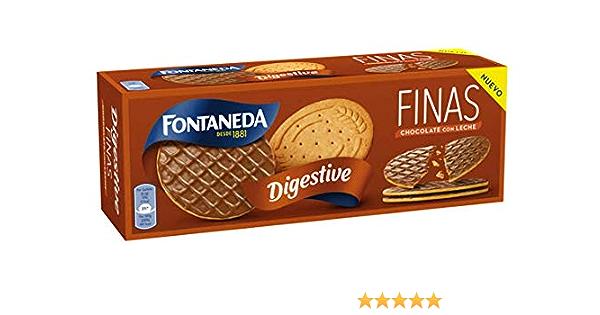 Fontaneda Digestive Finas Chocolate Leche , 170 g: Amazon.es: Alimentación y bebidas