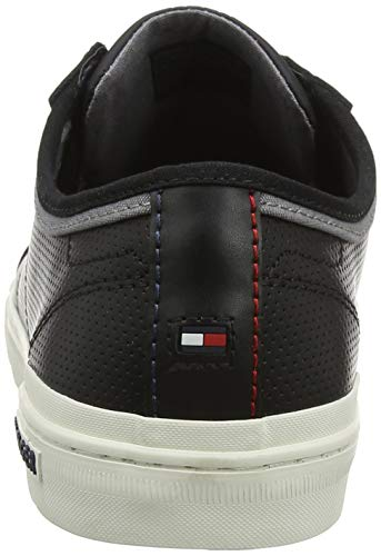 Core Hilfiger Black Homme 990 Sneaker Noir Lace Up Tommy Basses Leather Sneakers qTx6Rq5