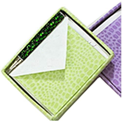 JAM Paper Handmade Recycled Foldover Card Sets in Box – 5 1/2 x 4 1/2 – Lime Green Crocodile – Sold individually