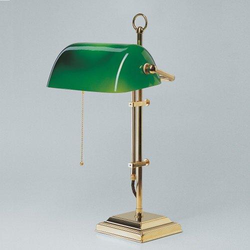 Bankerlampe Schreibtischlampe Berliner Messing poliert W2-99gr P