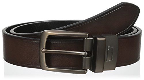 Leather Logo Plaque - Levi's Men's  1 3/8 in. Reversible Belt,Brown/Black,36
