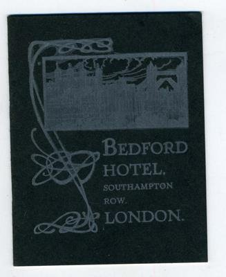 Bedford Hotel Brochure Southampton Row London England 1905 (1905 Hotel)