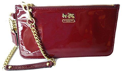 Coach Madison Patent Leather Chain Wristlet Wallet Crimson 47941 by Coach