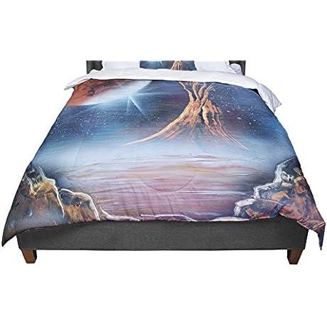 KESS InHouse Infinite Spray Art Embark Nature Blue King Cal King Comforter 104 X 88