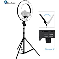 LimoStudio 14-inch Diameter Continuous Ring Light Kit, 5500K Color Temperature, Light Stand Tripod & Convenient Carry Bag Included, for Commercial Product / Beauty Eye Facial Photo Shooting, AGG1773