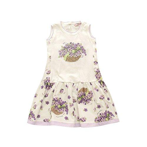 sans violette Robe manche à fleurs Weiß MONNALISA 5P8wXqxX4