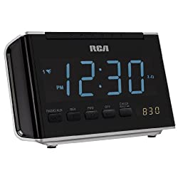 RCA RC46R AM/FM Alarm Clock Radio with Large Blue LED Display (Black) (Discontinued by Manufacturer)